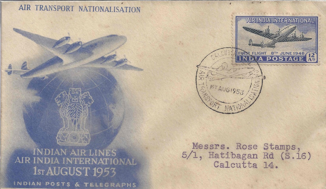 1948 Air-India International Bombay - London Flight - Indian Airmails